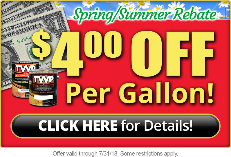TWPStain.com Spring Rebate